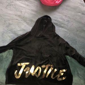 Girls Justice Crop Top Hoodie